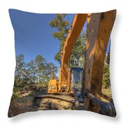 Cat Excavator  Throw Pillow