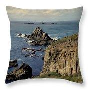 Seascape Lands End Throw Pillow