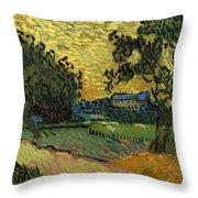 Landscape At Twilight Throw Pillow