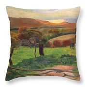 Landscape From Bretagne Throw Pillow