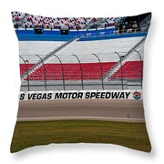 Las Vegas Speedway Grandstands Throw Pillow
