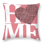 Las Vegas Street Map Home Heart - Las Vegas Nevada Road Map In A Throw Pillow