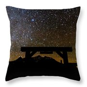 Last Dollar Gate And Milky Way Starry Throw Pillow