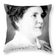 Laura Ingalls Wilder (1867-1957) Throw Pillow