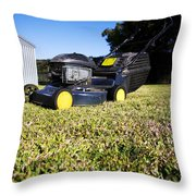 Lawn Mower Throw Pillow