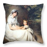 Lawrence's Lady Mary Templetown And Her Eldest Son Throw Pillow