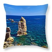 Le Colonne - San Pietro Island Throw Pillow