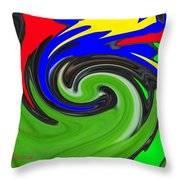 Leaf And Color Abstract Throw Pillow