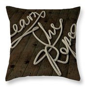 Learn The Ropes Rope Throw Pillow by Allan Swart