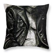 Leather Jacket Throw Pillow