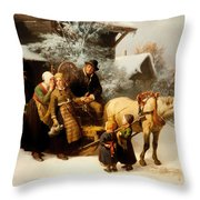 Leaving Home Throw Pillow