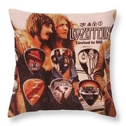 Led Zeppelin Art Throw Pillow