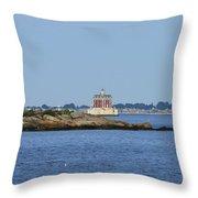 Ledge Lighthouse  Throw Pillow