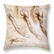 Leonardo: Anatomy, 1510 Throw Pillow