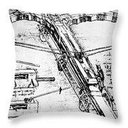 Leonardo: Invention Throw Pillow