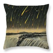 Leonid Meteor Shower Of 1833 Throw Pillow