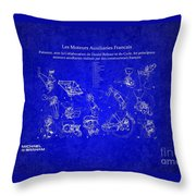 Les Moteurs Auxiliaries Francais Throw Pillow