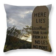 Lester Moore Grave Boothill Cemetery Tombstone Arizona 2004 Throw Pillow