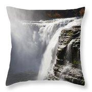 Letchworth High Falls Throw Pillow