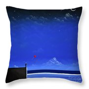 Letting Go Throw Pillow by Chris Mackie