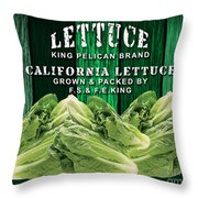Lettuce Farm Throw Pillow