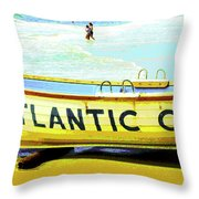 Lifeboat Atlantic City New Jersey Throw Pillow