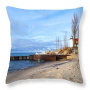Light And Beach Throw Pillow