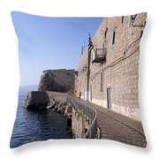 Light And Shadow In Hydra Island Throw Pillow