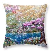 Light Of Spring Throw Pillow