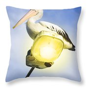 Light Pelican Throw Pillow
