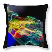 Light Strands Throw Pillow