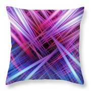 Light Trails Throw Pillow