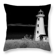 Lighthouse At North Cape On Pei Throw Pillow
