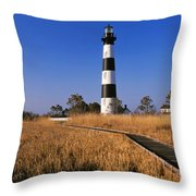 Lighthouse In A Field, Bodie Island Throw Pillow