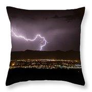 Lightning 9 Throw Pillow