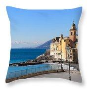 Liguria . Camogli Throw Pillow