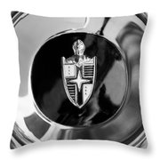 Lincoln Capri Wheel Emblem Throw Pillow by Jill Reger