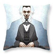 Lincoln Childlike Throw Pillow