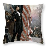 Lincoln Independence Hall Throw Pillow