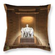 Washington Dc - Lincoln Memorial Throw Pillow