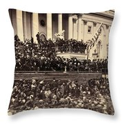 Lincoln's Inauguration, 1865 Throw Pillow