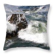 Linda Mar Beach Surf Throw Pillow