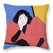 Lippincotts February 1895 Throw Pillow