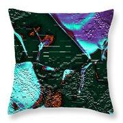 Liquid Color Throw Pillow