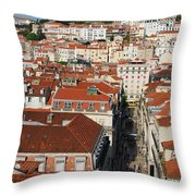 Lisbon Cityscape Throw Pillow