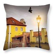 Lisbon Houses Throw Pillow