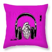 Listen 2 Your Heart Throw Pillow