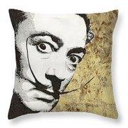 Literally Salvador Dali Throw Pillow