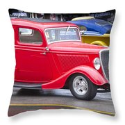Little Red Coup Throw Pillow