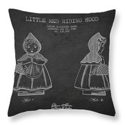 Little Red Riding Hood Patent Drawing From 1943 Throw Pillow